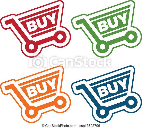 Shopping Cart Tags - csp13593706