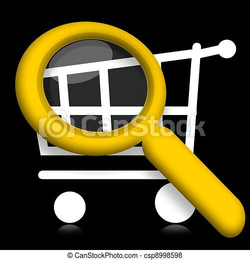 Shopping cart under magnifyier - csp8998598