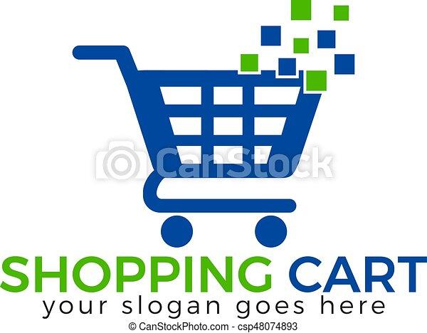 shopping cart vector logo design shopping cart icon