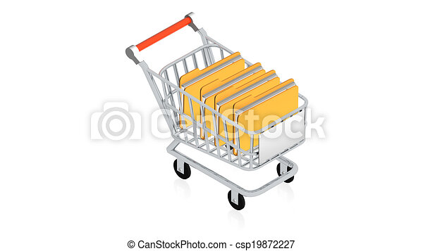 Shopping cart with item - csp19872227