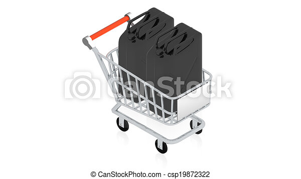 Shopping cart with item - csp19872322