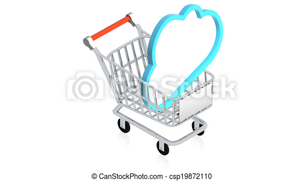 Shopping cart with item - csp19872110