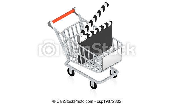 Shopping cart with item - csp19872302