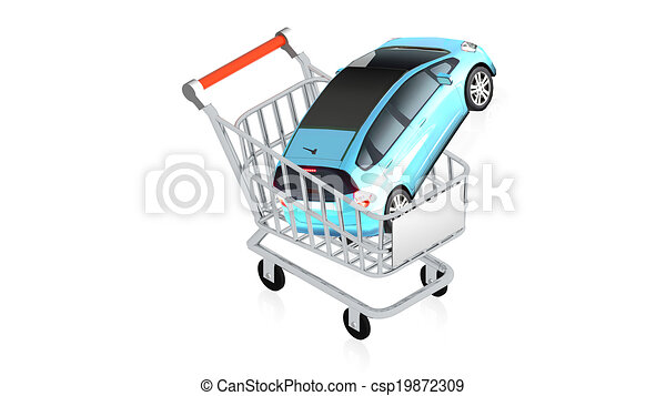 Shopping cart with item - csp19872309