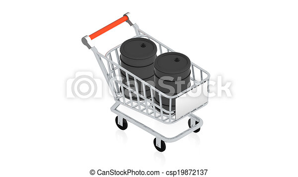 Shopping cart with item - csp19872137