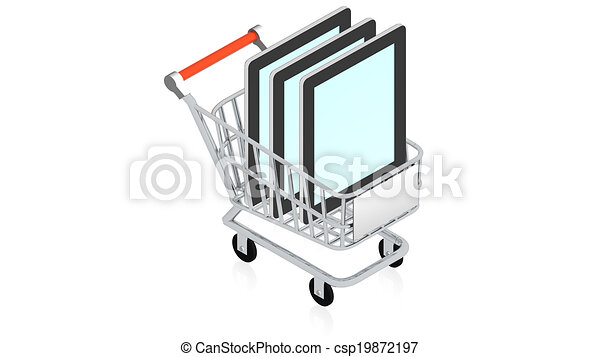 Shopping cart with item - csp19872197