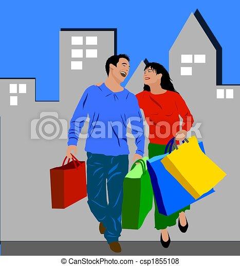 shopping, colorato, persone - csp1855108