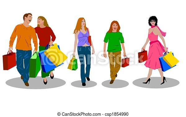 shopping, colorato, persone - csp1854990