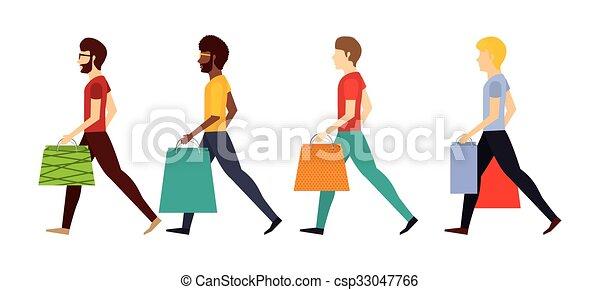 shopping, disegno, persone - csp33047766