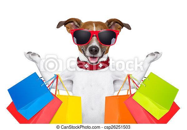 shopping dog - csp26251503
