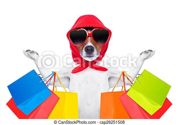 shopping dog - csp26251508