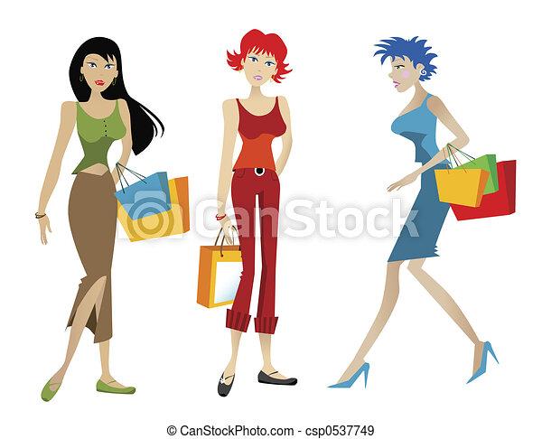 shopping donna - csp0537749