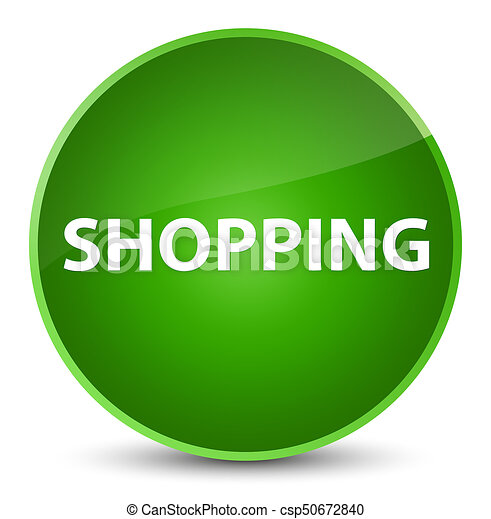 Shopping elegant green round button - csp50672840