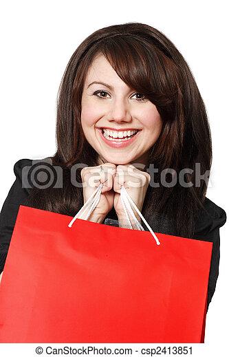 Shopping excitement - csp2413851