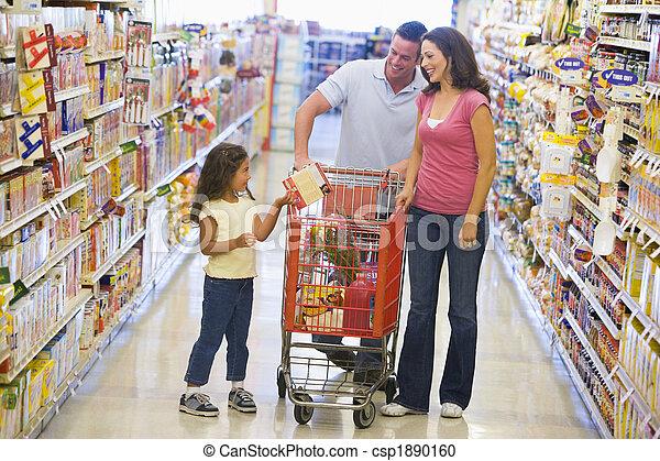 shopping, famiglia, supermercato - csp1890160