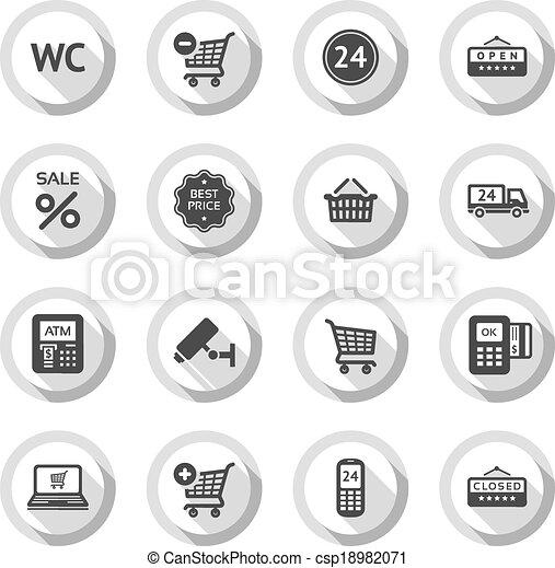 Shopping flat icons set 03 - csp18982071