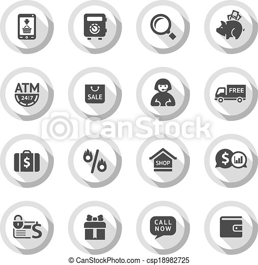 Shopping flat icons set 04 - csp18982725