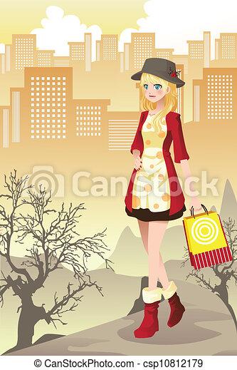 Shopping girl - csp10812179