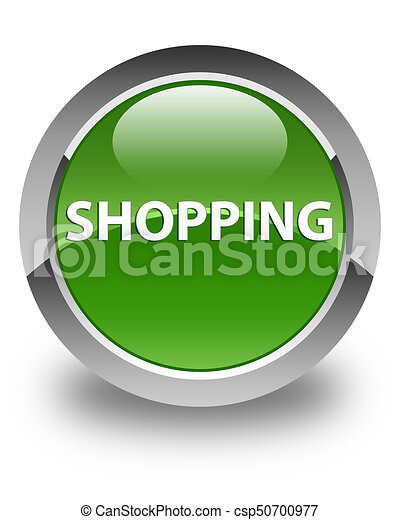 Shopping glossy soft green round button - csp50700977