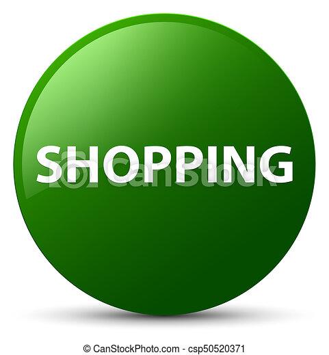 Shopping green round button - csp50520371