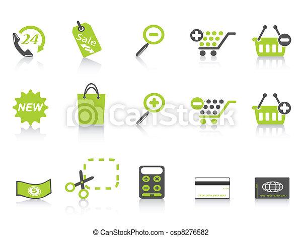shopping icon green series - csp8276582