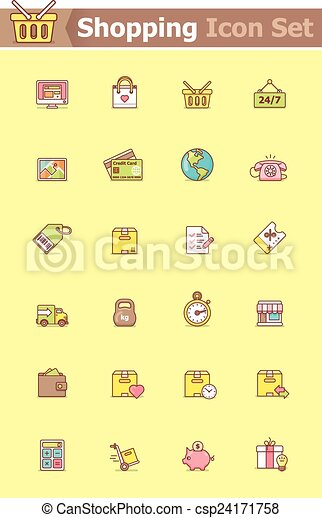 Shopping icon set - csp24171758