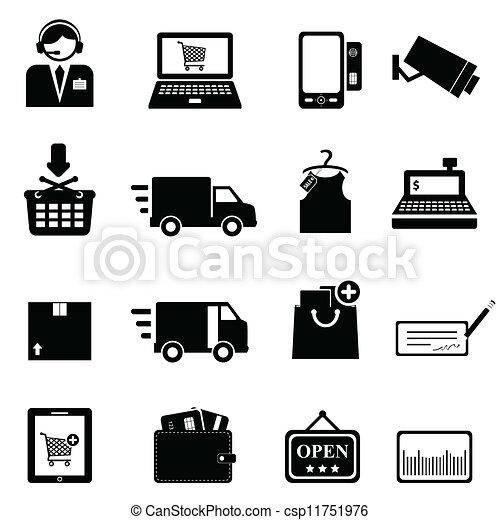 Shopping icon set - csp11751976