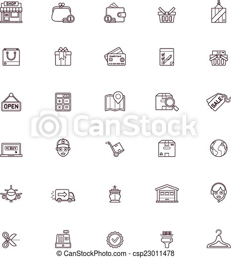Shopping icon set - csp23011478