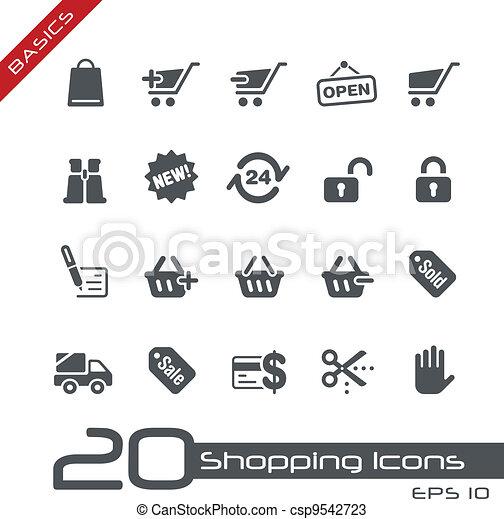 Shopping Icons // Basics - csp9542723