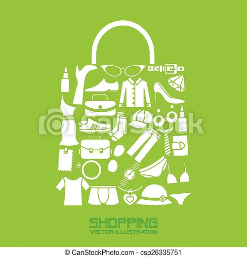 shopping icons - csp26335751
