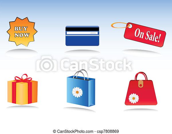 shopping icons - csp7808869