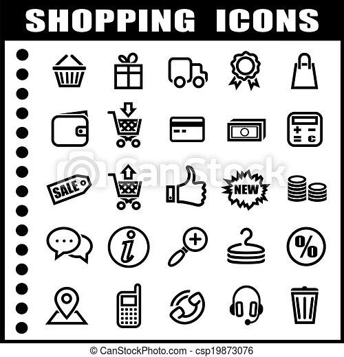 Shopping icons - csp19873076
