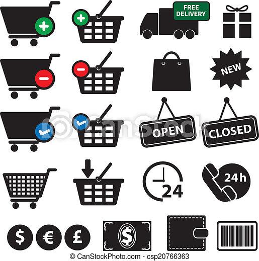 Shopping Icons Set - csp20766363