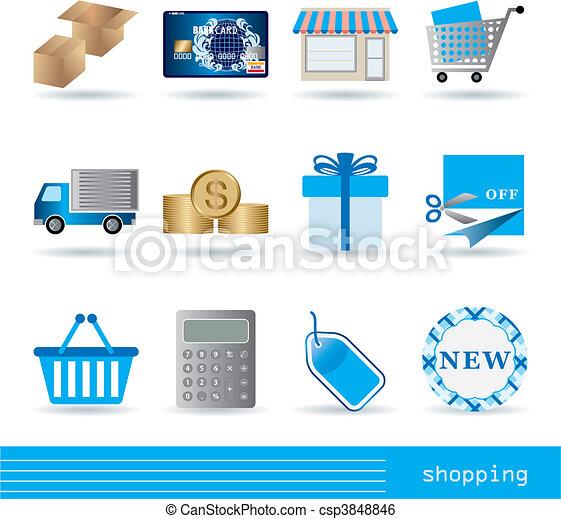 Shopping icons set - csp3848846