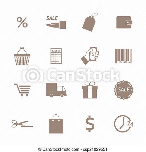 Shopping icons set - csp21829551