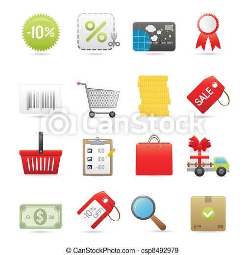 Shopping Icons Set - csp8492979