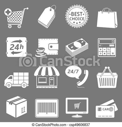 Shopping Icons Set - csp49606837