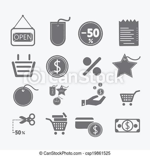 Shopping icons set - csp19861525