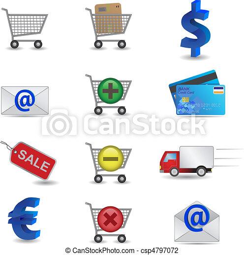 Shopping Icons Set - csp4797072