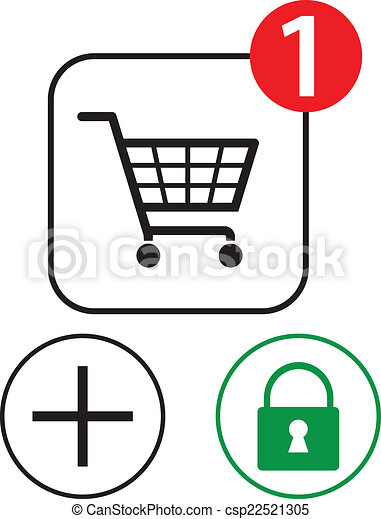 Shopping icons - csp22521305