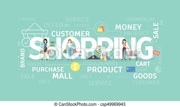 Shopping illustration concept. - csp49969943
