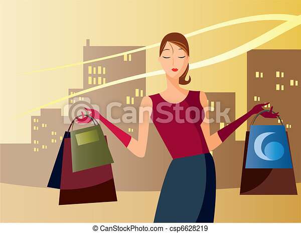 shopping in the afternoon - csp6628219