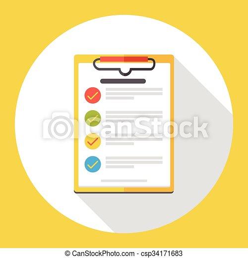shopping list flat icon csp34171683