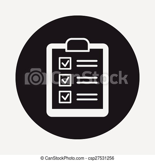 shopping list icon csp27531256