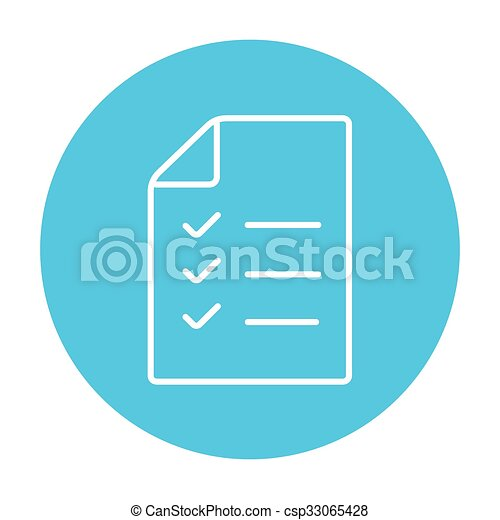 shopping list line icon csp33065428