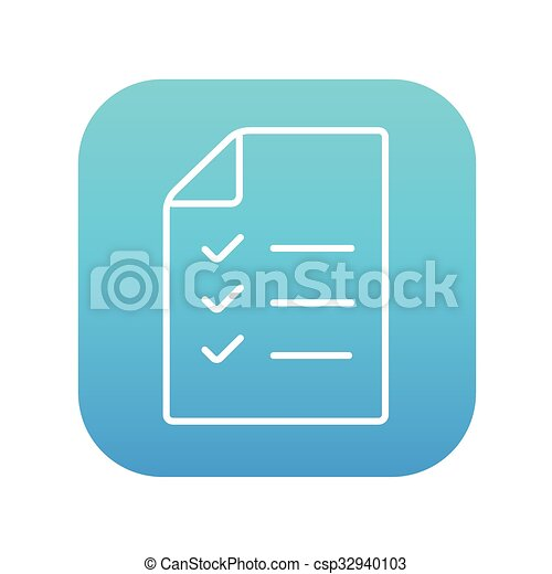 shopping list line icon csp32940103