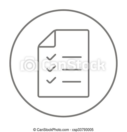 shopping list line icon csp33793005