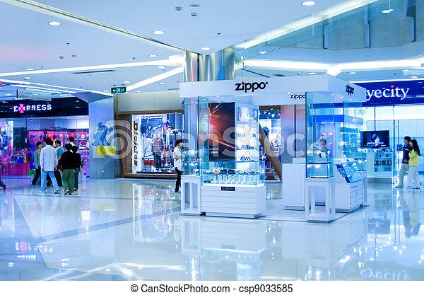 Shopping mall in Shanghai - csp9033585