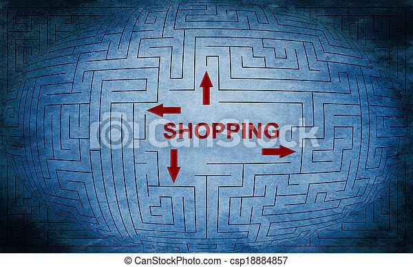 Shopping maze concept - csp18884857