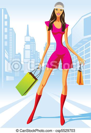 shopping, moda, ragazze - csp5529703